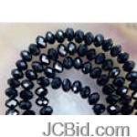 JCBid.com Crystal-Gems-bead-Black-4x6-mm-25-pc