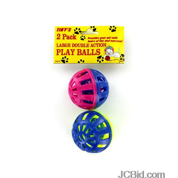 JCBid.com Cat-Play-Balls-with-Bells-display-Case-of-72-pieces