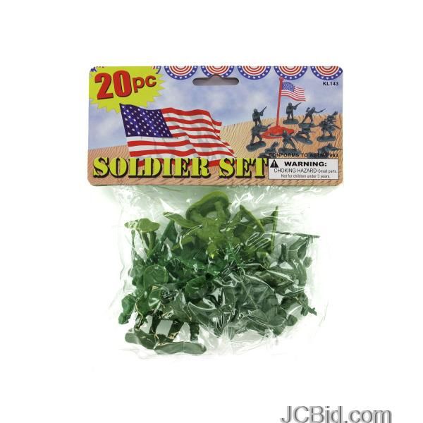 JCBid.com Plastic-Soldiers-Play-Set-display-Case-of-84-pieces