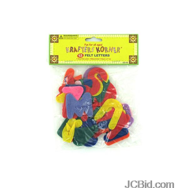 JCBid.com Crafting-Felt-Letters-display-Case-of-132-pieces
