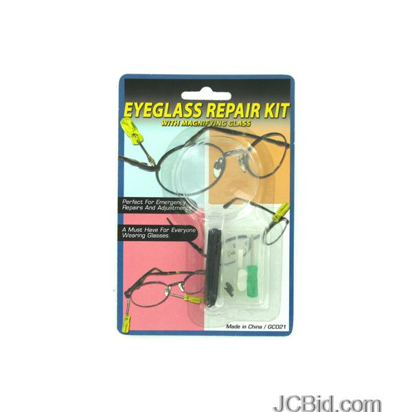JCBid.com Eyeglass-Repair-Kit-with-Magnifying-Glass-display-Case-of-84-pieces