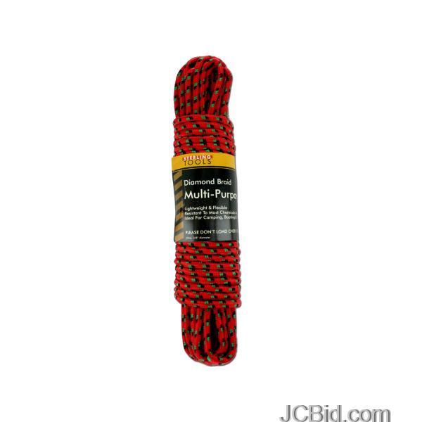 JCBid.com Diamond-Braid-Multi-Purpose-Rope-display-Case-of-12-pieces