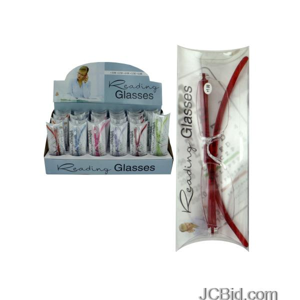 JCBid.com Translucent-Reading-Glasses-Countertop-Display-display-Case-of-72-pieces