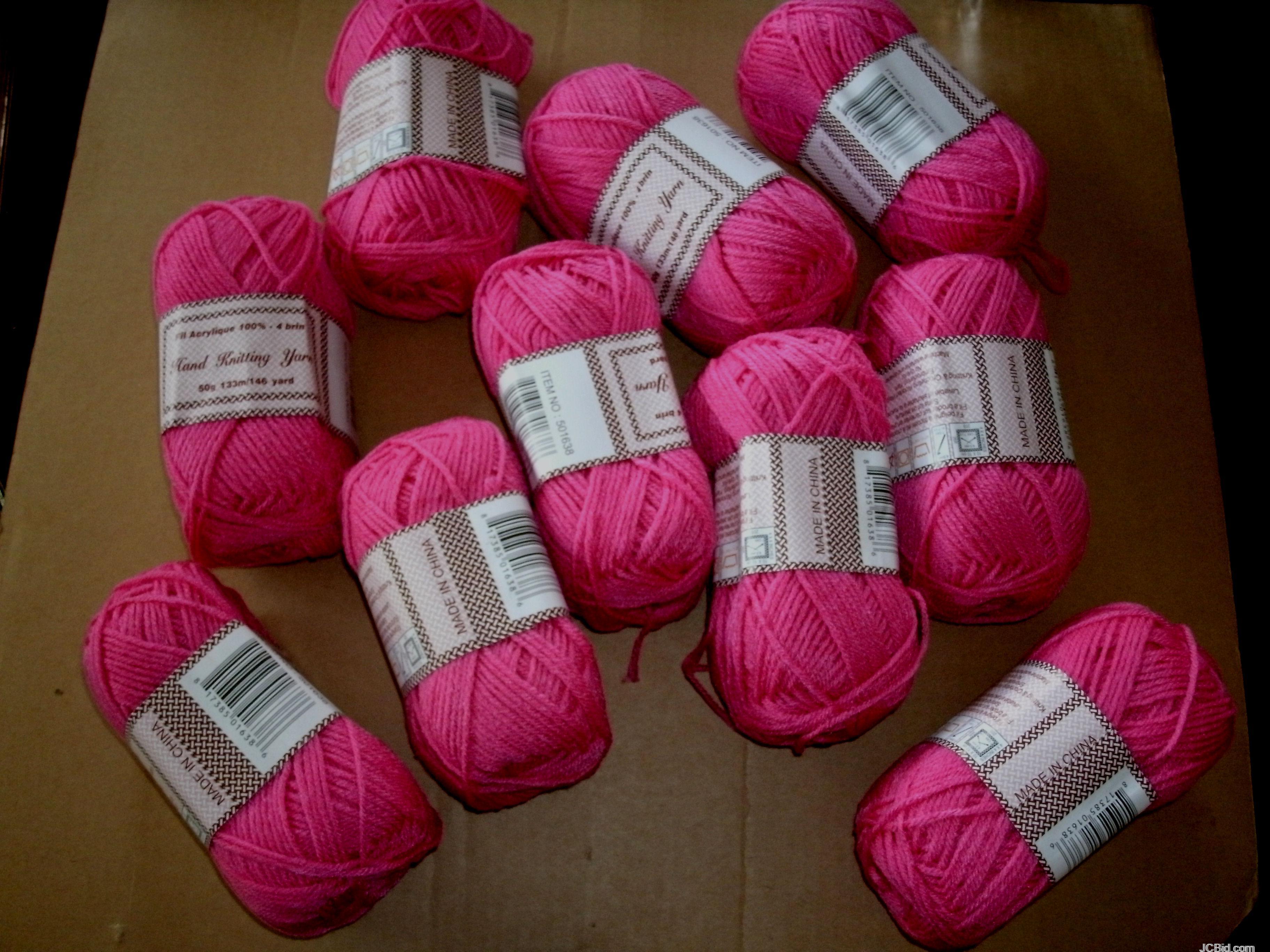 JCBid.com Hand-knitting-Crochet-yarn-50g-Each-Just-15-each-Ball-Rose