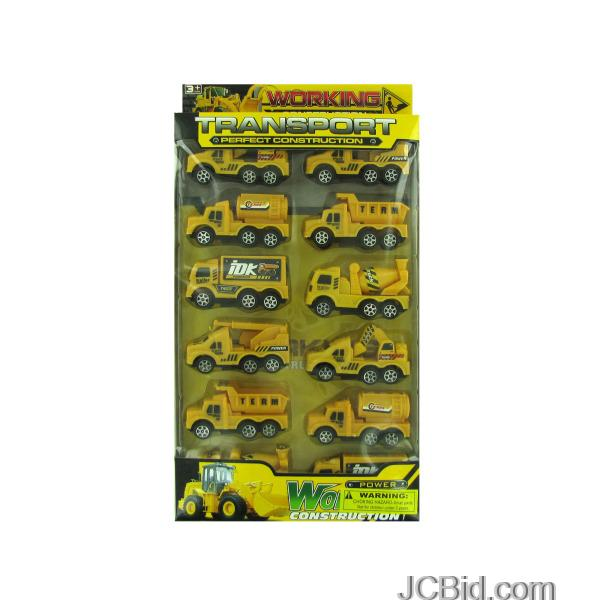 JCBid.com Construction-Truck-Toy-Set-display-Case-of-24-pieces