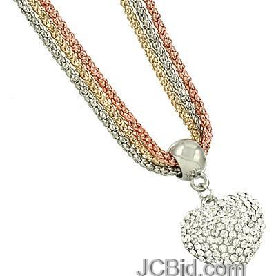JCBid.com Crystal-Heart-3Strand-necklace