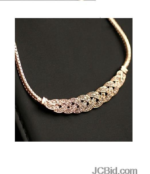 JCBid.com Weave-Style-Choker-with-Crystals