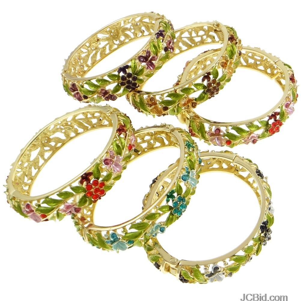 JCBid.com Genuine-Rhinestone-accents-bracelet-1-piece