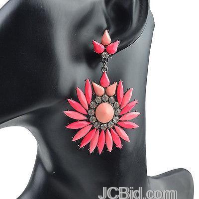 JCBid.com Round-Dangle-Earrings