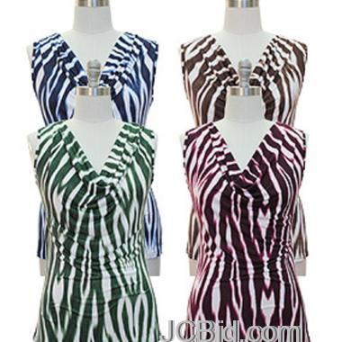 JCBid.com Zebra-Print-Cowl-Neck-Top-Your-Choice-of-Color-