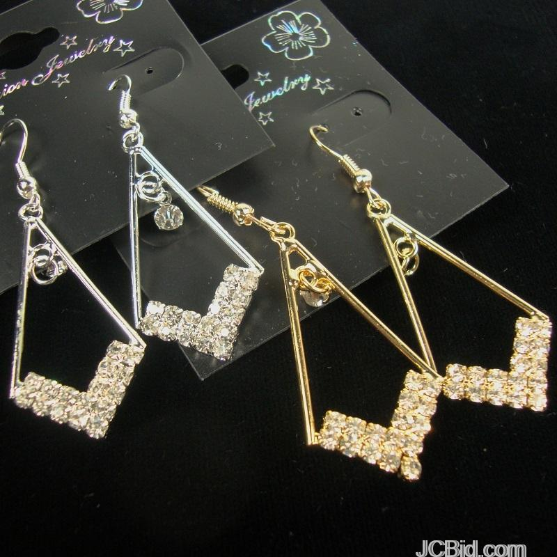 JCBid.com Your-Choice-of-Gold-or-Silver-Dangle-Earrings