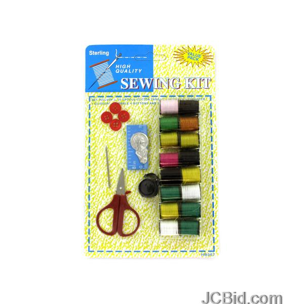 JCBid.com All-In-One-Sewing-Kit-display-Case-of-72-pieces