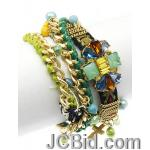 JCBid.com EMBROIDERED-FABRIC-BAND-BRACELET