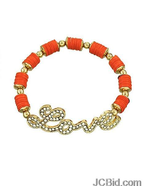 JCBid.com Love-Bracelet-Orange-colored