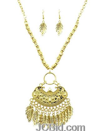 JCBid.com Gold-tone-Native-Indian-Inspired-Metal-necklace