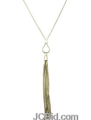 JCBid.com Tassle-Metal-Chain-Necklace