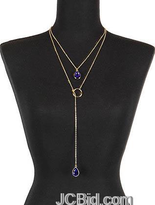 JCBid.com Lariat-style-necklace-Blue
