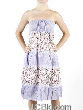 JCBid.com Lavender-Lace-and-Flower-Print-Sundress