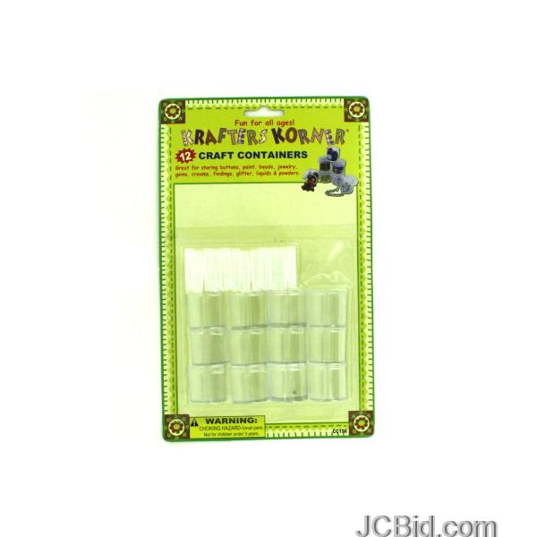 JCBid.com Small-Plastic-Craft-Containers-display-Case-of-60-pieces