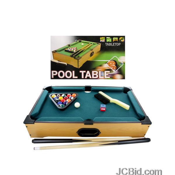 JCBid.com Tabletop-Pool-Table-display-Case-of-12-pieces