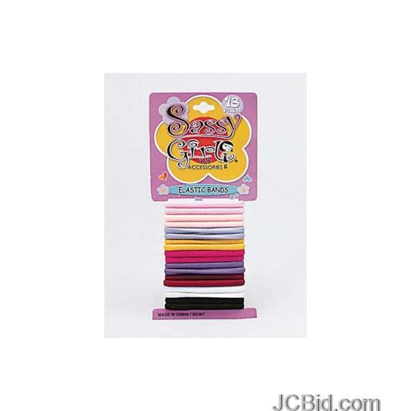JCBid.com Colored-Elastic-Hair-Bands-Case-of-96-pieces