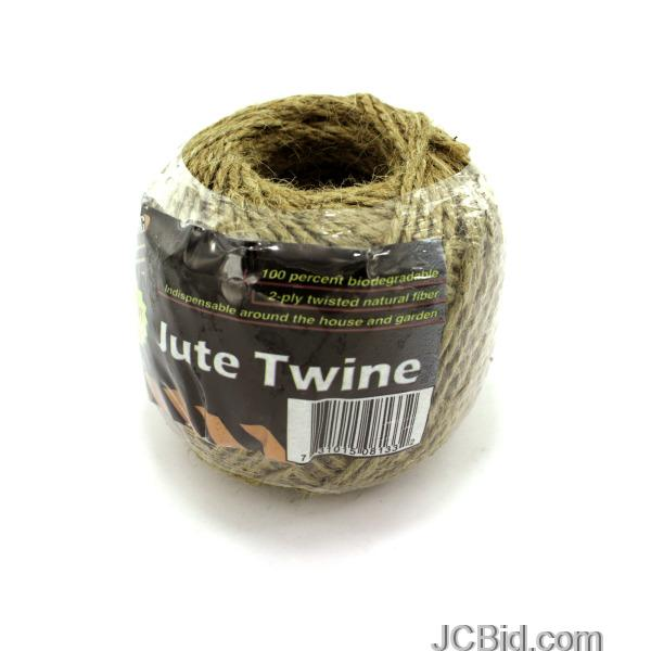 JCBid.com Natural-Fiber-Jute-Twine-display-Case-of-96-pieces