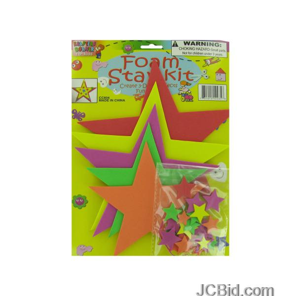 JCBid.com Do-It-Yourself-Foam-Star-Craft-Kit-display-Case-of-96-pieces