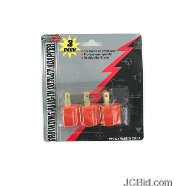 JCBid.com Grounding-Plug-in-Outlet-Adapters-display-Case-of-60-pieces