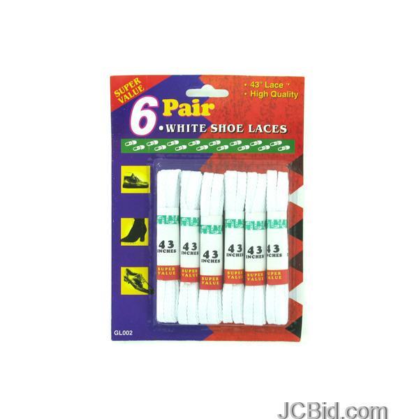 JCBid.com White-Shoe-Laces-display-Case-of-72-pieces