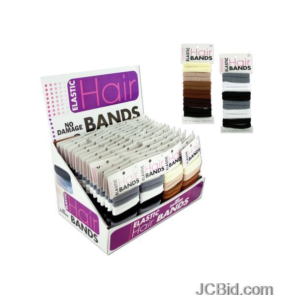 JCBid.com Elastic-Hair-Bands-Countertop-Display-display-Case-of-72-pieces