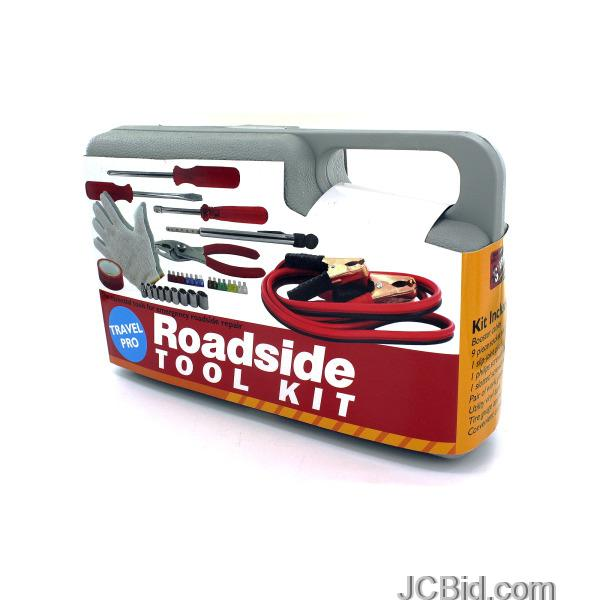 JCBid.com Emergency-Roadside-Tool-Kit-in-Carrying-Case-display-Case-of-12-pieces