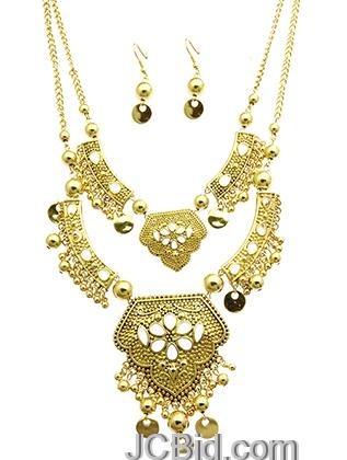 JCBid.com Double-chain-necklace-set