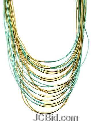 JCBid.com Multi-Layered-Necklace-GreenGold