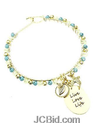JCBid.com Blue-Charm-Bracelet-Live-Love-Laugh