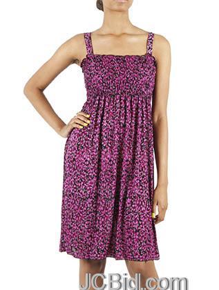 JCBid.com Flower-Print-Sundress-Purple
