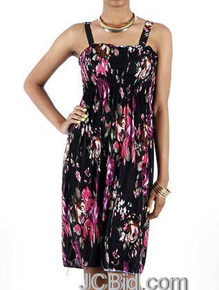 JCBid.com Flower-Print-Sundress-Pink