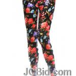 JCBid.com Flower-print-legging-orange