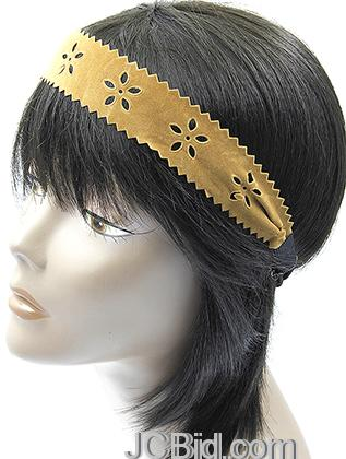JCBid.com Fancy-Leather-head-band-in-Gold