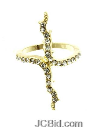 JCBid.com Branch-shaped-ring-in-Gold-tone