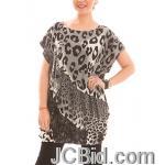 JCBid.com Loose-Top-with-Leopard-Print-Chocolate