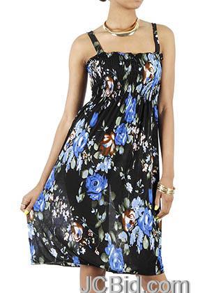 JCBid.com Sundress-Blue-Flower-print