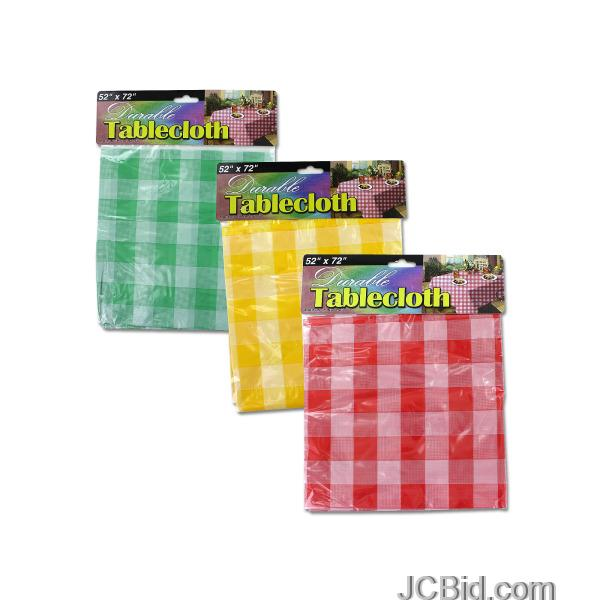 JCBid.com Checkered-Picnic-Tablecloth-display-Case-of-72-pieces