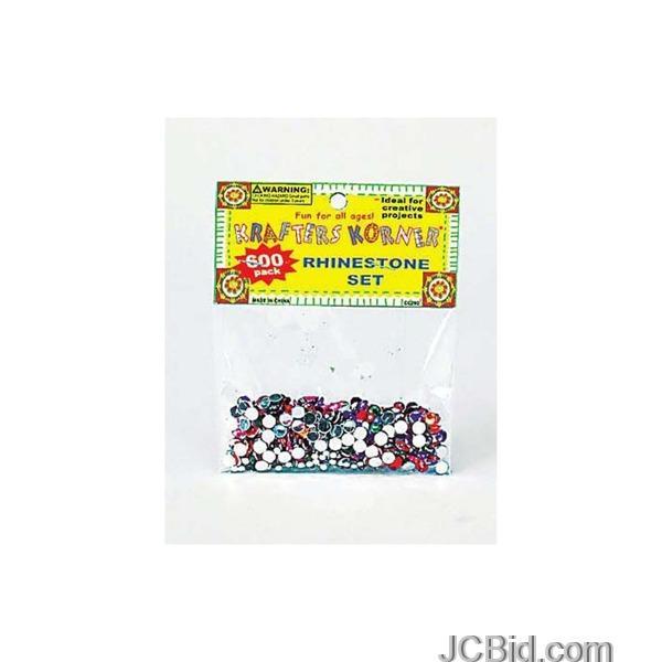 JCBid.com Multi-Color-Rhinestone-Set-display-Case-of-108-pieces