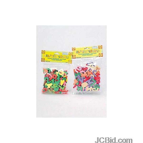 JCBid.com Numbers-amp-Letters-Foam-Shapes-Set-display-Case-of-96-pieces