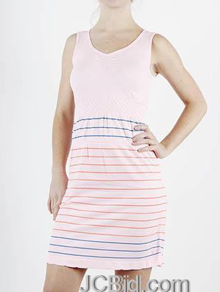 JCBid.com Striped-Tank-top-Tunic-Dress-Pink