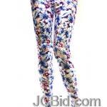 JCBid.com Flower-print-legging-blue