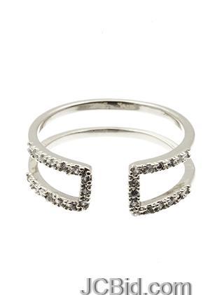 JCBid.com Cuff-Ring-in-Silver-tone
