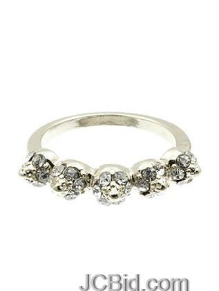 JCBid.com Crown-shaped-ring-in-Silver-tone