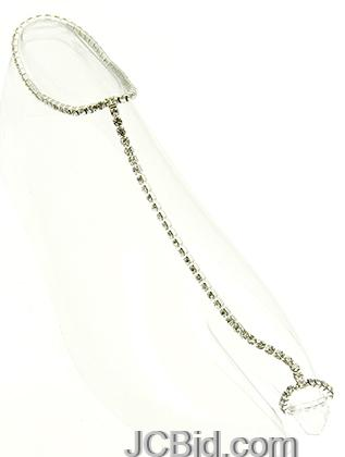 JCBid.com Toe-Ring-Anklet-with-Crystals