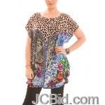 JCBid.com Loose-Top-with-Cheetah-Print-Brown